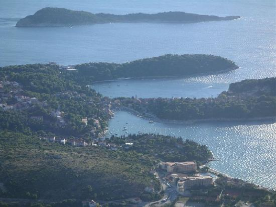 Villa Andro: Cavtat from the mountain behind it