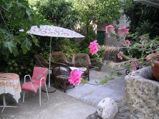 Villa Andro apartments: Front yard