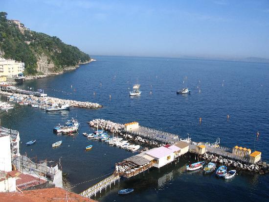 Coltur Suites Sorrento: more views from our deck-Grande Marina here-Coltur Suites-June07