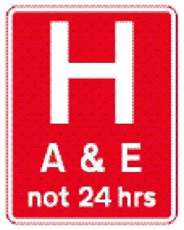 UK A&E sign