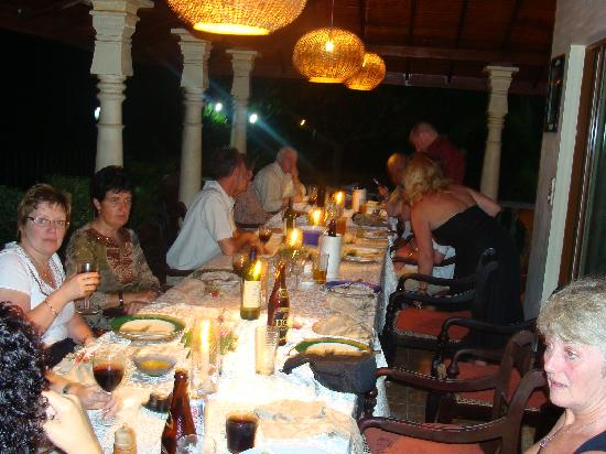 Asian Jewel Boutique Hotel: Dinner with 16 friends on the Veranda