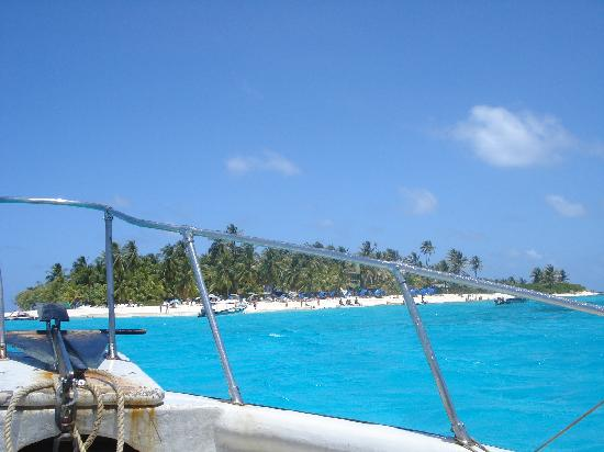 Decameron Aquarium: Arriving to Johnny Cay... the blue of the water is unimaginable!