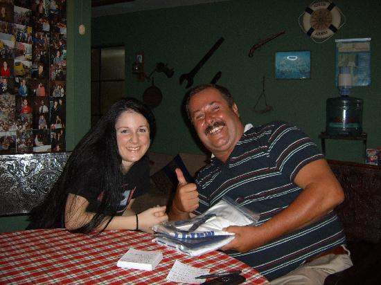 Miraflores House: Francis the owner & me