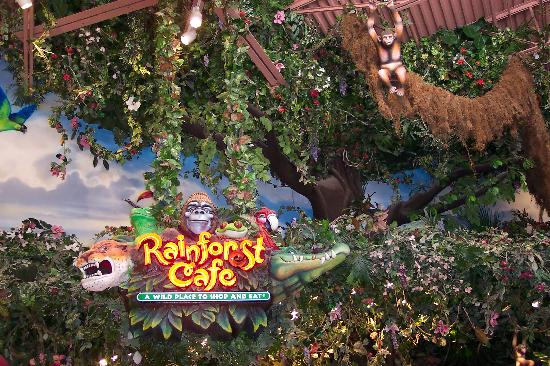 Wyndham Nashville: Rainforest Cafe in Opry Mills Mall about 1 mile from resort