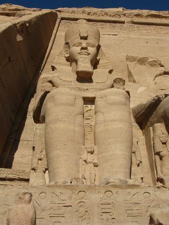 21 Metres High Ramses II at Abu Simbel
