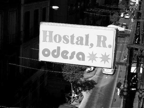Hostal Odesa : The sign outside our window