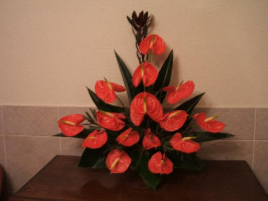Vila Marta: Hotel flower displays by the owners wife