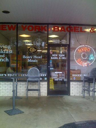 New York Bagels & Deli: One more shot from outside with hours of operation