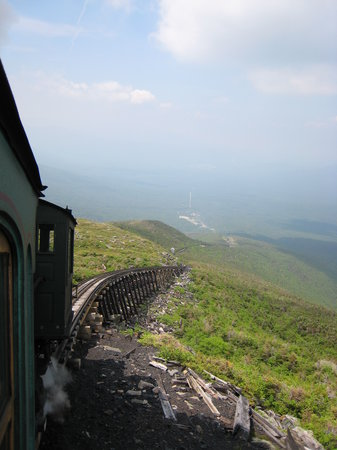 The Mount Washington Cog Railway: Almost there... I think I can, I think I can...