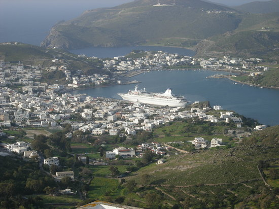 Patmos, Greece: View from the Monastery