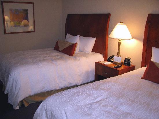 Hilton Garden Inn Akron-Canton Airport: Inside our double room at the Hilton Garden Inn