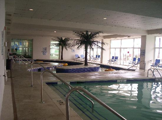 Indoor pool and lazy river picture of sandy beach resort - Indoor swimming pool myrtle beach sc ...