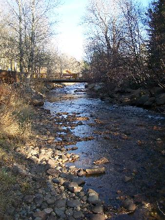 Deer Crest Resort: Looking Downstream (East) along the Fall River