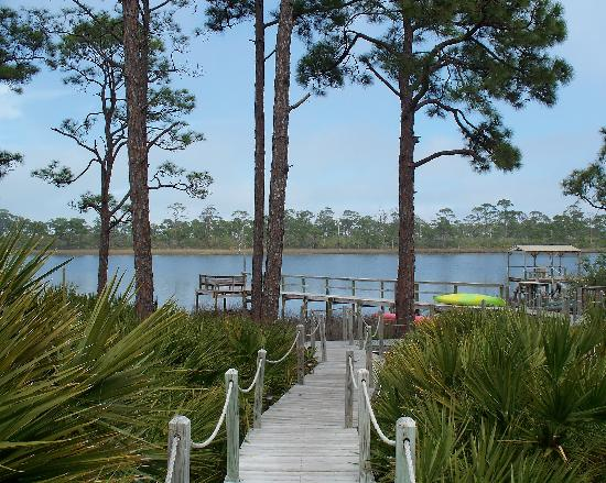 Cape San Blas Inn: Wonderful route to the dock, especially with morning coffee
