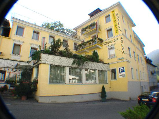Hotel Schwarzer Adler: Pretty exterior (sorry for the fish eye distortion)