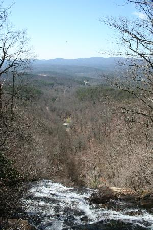 Amicalola Falls State Park: Amicalola Falls SP- view from top of falls