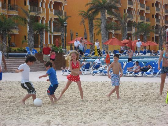 The Royal Haciendas All Suites Resort & Spa: Beach soccer
