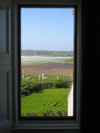 View from the green bedroom at Baile-na-Cille