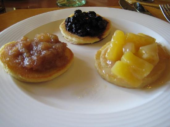 The Ritz-Carlton, Grand Cayman: Breakfast at the Ritz - Silver Dollar Panckes w/Fruit
