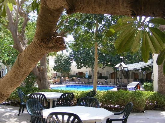 Falaj Daris hotel pool and BBQ area