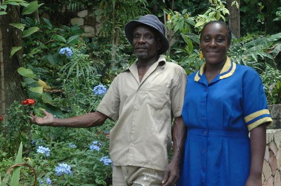 John and Marva - part of the staff at caribic house