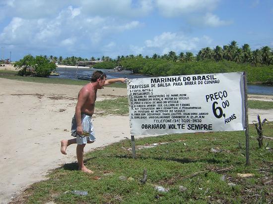 Barra de Cunhau: Balsa Sibauma - Cunahu