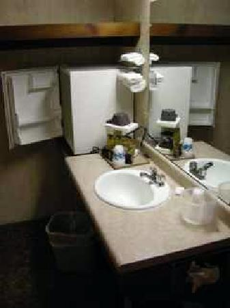 Newfound Lodge: Sink area by door
