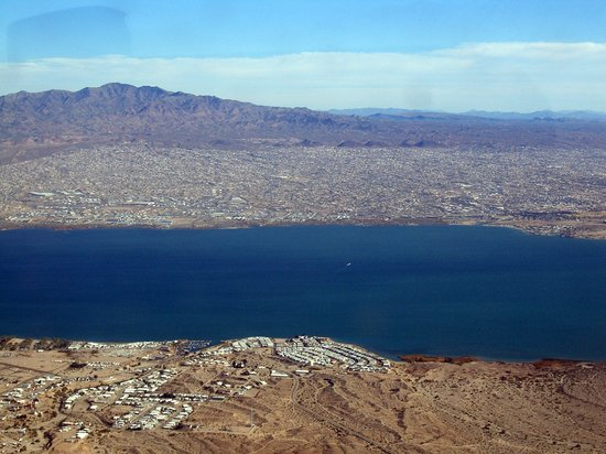 Lake Havasu City, AZ: Lake Havasu from above