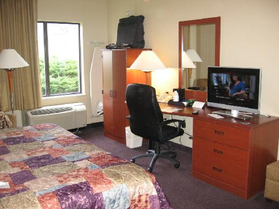 Sleep Inn & Suites Lancaster County: desk/armoire area