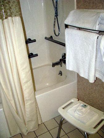 Hampton Inn Lima: Our handicap accessible bathroom at Hampton Inn