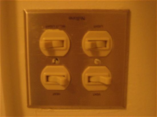 The Beach Plum Inn: Upside Down Light Switch