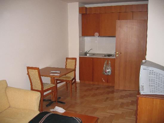 Dunav Apartment House: Same room - the kitchen & Fridge