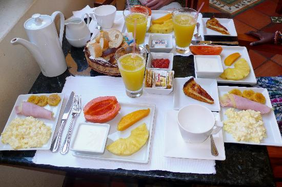 Hotel Casa do Amarelindo: petit déjeuner