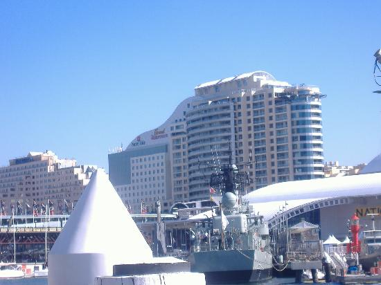 One Darling Harbour: our hotel from other side of bridge