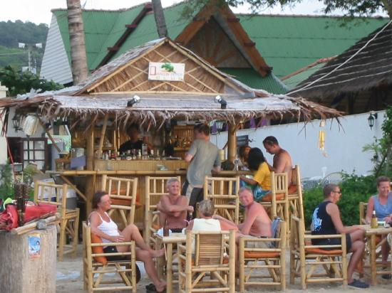 Kamala Dreams: A beach bar in front of the resort