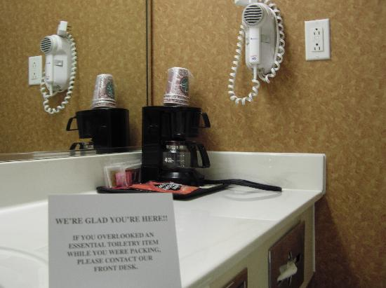 Comfort Inn: In-room coffee maker and hair dryer