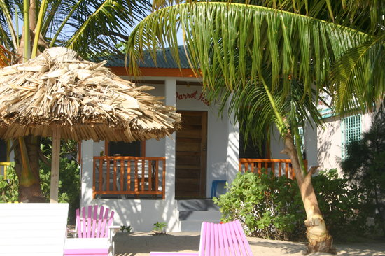 Ranguana Lodge: Parrot Fish Cabana, right on the beach