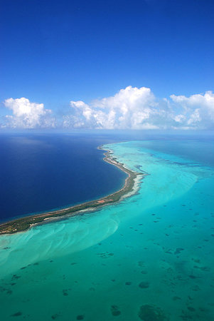 Los Roques National Park, Venezuela: Reef from the plane.