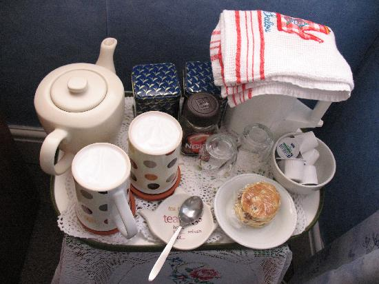Plasnewydd Bed and Breakfast: Tea tray and refreshments in room.