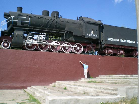Luhansk, Ucrania: steam locomotive