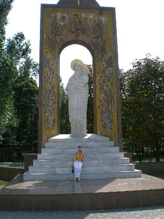 Luhansk, Ukraine: monument to christianity