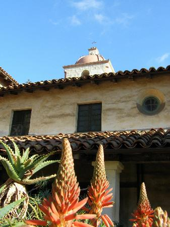 Old Mission Santa Barbara: The Mission on a beautiful January day.