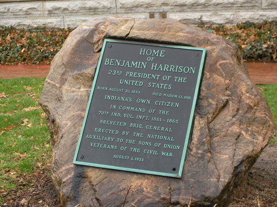 Benjamin Harrison Presidential Site: rock
