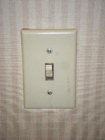 Ramada Kansas City: Look at the dirt on the switch when you walk in to the room.