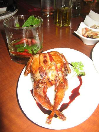 Jaleo : The Quail and a glass of White Sangria