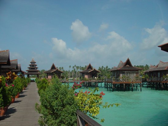 Pulau Mabul, Malaisie : Over-water bungalows