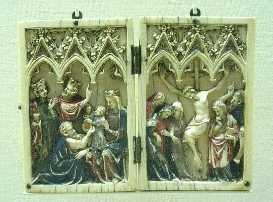 Musée Calouste-Gulbenkian : Diptichon, French, ivory 14th cent.