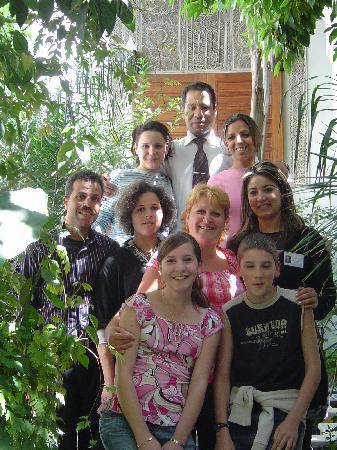 Riad Louna: Une partie de l'équipe le jour de notre départ