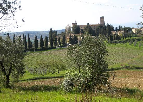 Villa Le Torri: view across to Castle at Poppiano (taken on a stroll a few minutes from the house)