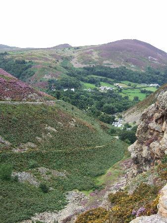 Conwy Mountain: View descending Conway mountain.